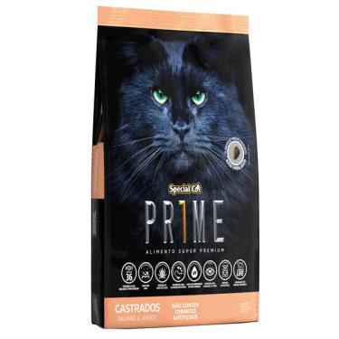 Ração Special Cat Prime Salmão e Arroz para Gatos Adultos Castrados - 3 Kg