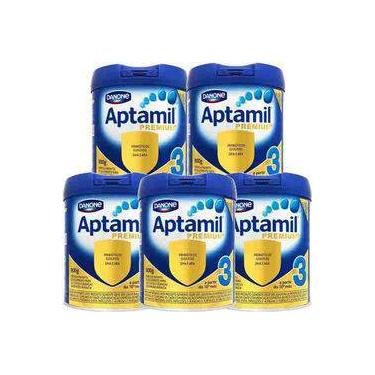 Kit Aptamil Premium+ 3 - 800g - 5 unidades