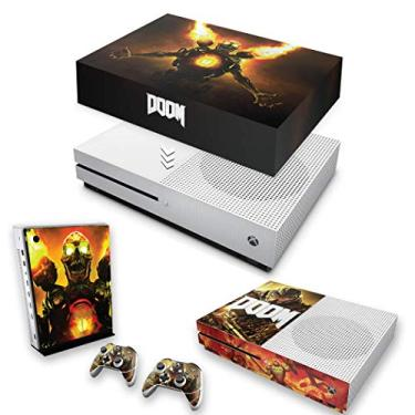 Capa Anti Poeira e Skin para Xbox One S Slim - Doom