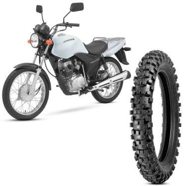 Pneu Moto CG 125 CARGO Levorin by Michelin Aro 18 90/90-18 NHS Traseiro Raptor