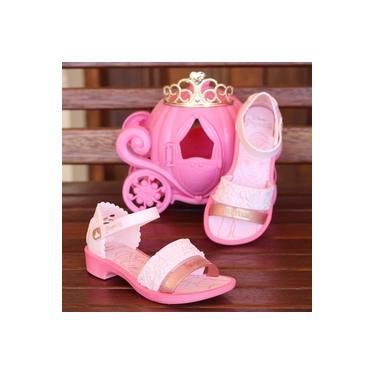 Sandalia Princesas Grendene Rosa/Rosa Infantil 22024-Fairytale
