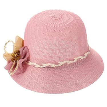 VALICLUD Chapéu feminino de palha de sol chapéu de verão dobrável para mulheres