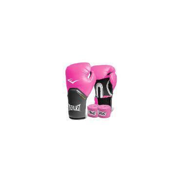 Kit Boxe Everlast - Luva Rosa 12oz + Bandagem f441bc0c2951c