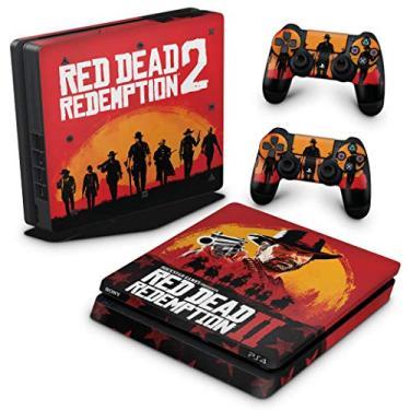 Skin Adesivo para PS4 Slim - Red Dead Redemption 2