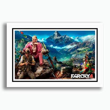 Quadro Far Cry 4 60x40cm Game Filme Tv Decorativo Sala Jogos Quarto Sala Copa Cozinha Loja Escritorio Pronto para Pendurar