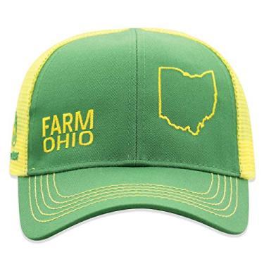 John Deere Boné infantil de malha com parte de trás do estado do orgulho da fazenda, Ohio, tamanho �nico