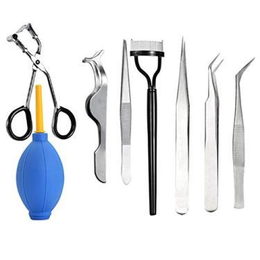 Imagem de Baosity Kit de ferramentas de aplicação de extensão de cílios postiços para modelar cílios