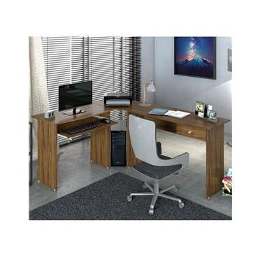 Mesa para Escritório em L 1 Gaveta Max Zanzini
