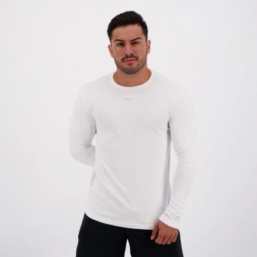 Camiseta Fila Sunprotect UV Manga Longa Branca - M