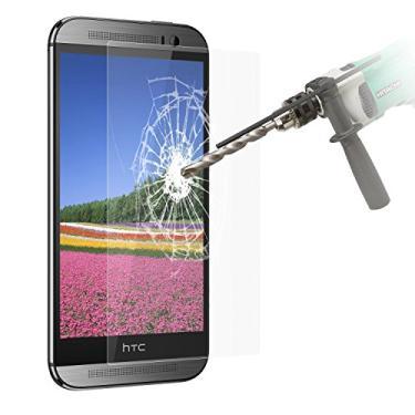 [2 pacotes] Película protetora de tela HTC One M8, HTC One M8, película protetora de tela para HTC One M8s, protetor de tela de vidro temperado transparente resistente a arranhões para HTC One M8
