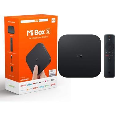 Imagem de Xiaomi Mi Box S Android TV com Google Assistente Reprodução remota de streaming - Chromecast Embutido - 4K HDR - Wi-Fi - 8 GB - Preto