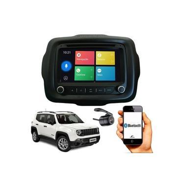 Central Multimídia Jeep Renegade 7 Pol Bluetooth Espelhamento Android e iOS GPS Tv Digital Com Moldura
