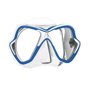 Máscara de Mergulho Mares X-Vision - Branco e Azul