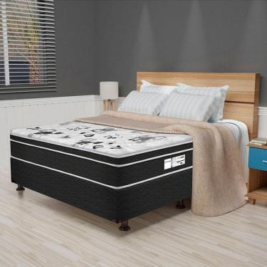 10972a0d62 Cama Box Casal Born Black 52x138x188 CP4 - Prodormir - Branco   Black