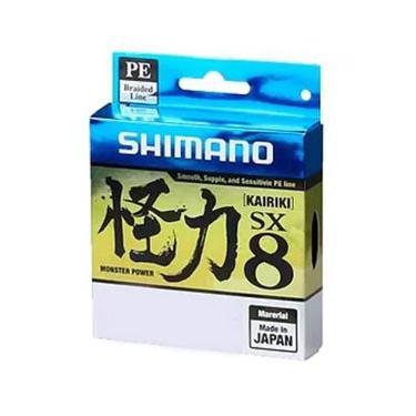 Linha de Pesca Shimano Kairiki PE Multifilamento 8 Fios Trançados Cinza 0,16mm 15lb 300m