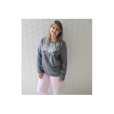Pijama feminino plus size tamanhos grandes algodão Love