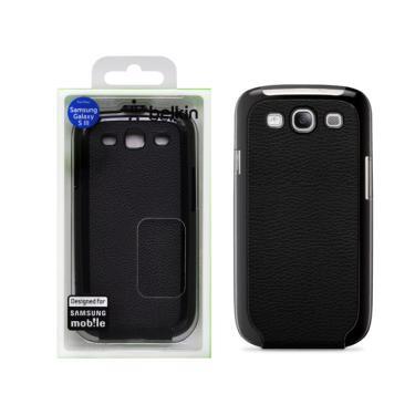 Capa p/ Samsung Galaxy S3 Belkin Snap Flip Couro Preta F8M397TTC00