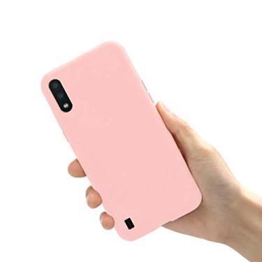 Capa A01 Samsung Galaxy TPU emborrachada e flexível (Rosa)