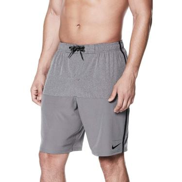 Bermuda 9-Inch Heater Split Shorts Nike Homens GG Cinza