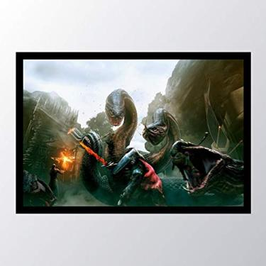 Quadro com moldura Dragons Dogma Dark_002