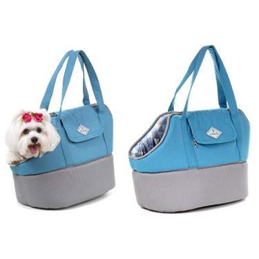 Bolsa de Transporte Baby para Cachorro e Gato Pet - M - Médio - Azul claro - Bichinho Chic