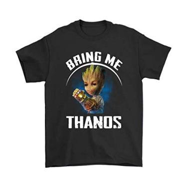 Imagem de Camiseta Básica Unissex Algodão Bring Me Thanos Groot HQ (Rosa Bebê, G)