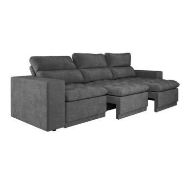 Peachy Sofa 4 Lugares Retratil Grafite Encontre Promocoes E O Pdpeps Interior Chair Design Pdpepsorg