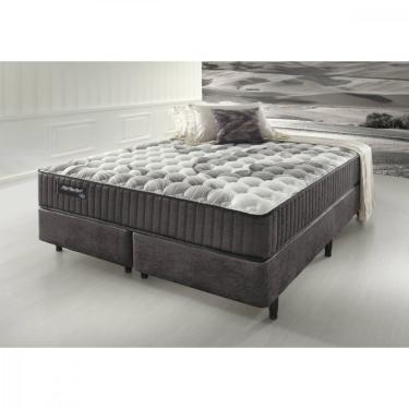 213672967 Conjunto Box King Size Fast Comfort Ecoflex - Prata Veludine