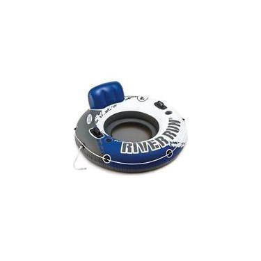 Boia Poltrona Inflável Intex Para Piscina River Run Azul 135cm