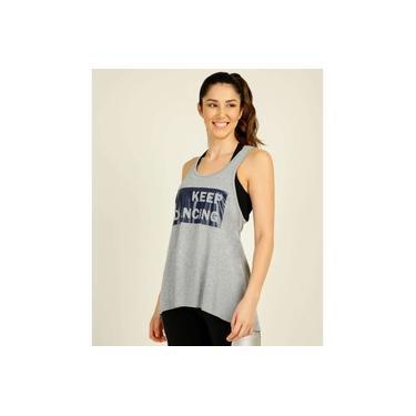 Regata Feminina Fitness Assimétrica Estampada Marisa