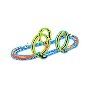 Imagem de Pista Looping Triplo Neon Braskit C/ Carrinho Recarregável E Luzes