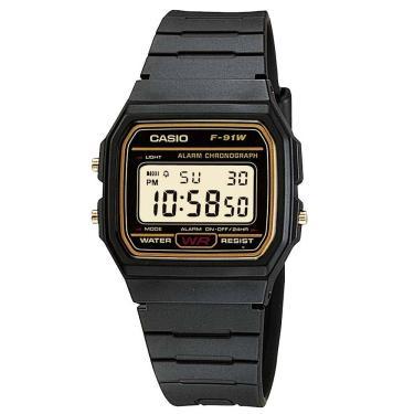 b61933322f6 Lux Golden Comprar · Relógio Masculino Casio Vintage F91WG9QDF - Preto