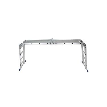Escada Multifuncional 4x4 16 Degraus 5134 Em Alumínio Com Plataforma - Mor