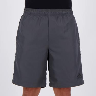 Bermuda Adidas Color Block Cinza - M