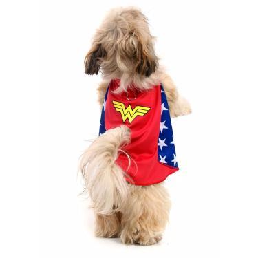 Capa para Cachorros Mulher Maravilha PP