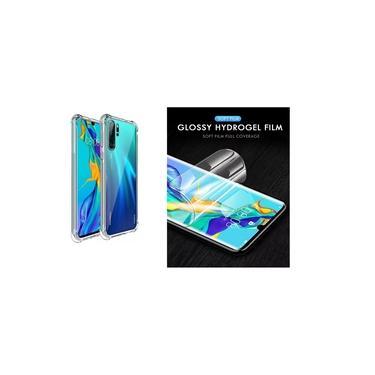 Capa Antishock Reforçada Nas Bordas Huawei P30 Pro + Película De Gel Cobre 100%