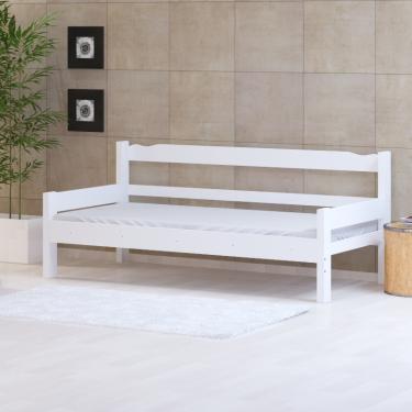 Sofa Cama de Madeira Abs Branco - SKU961591
