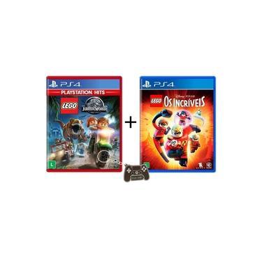 Lego Jurassic World Hits + Lego Os Incriveis PS4 e Chaveiro Exclusivo