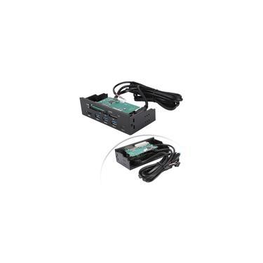 Leitor de cartão Wendry USB 5,25 Leitor de cartão USB 3.0, leitor de cartão interno com 6 slots de cartão e porta eSATA para cartão M2 / mso / cartão