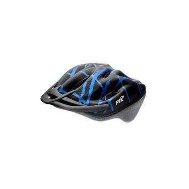 Capacete Ciclismo Ptk Mtb Bike apoio De Nuca Pódium Preto/Azul