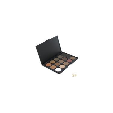 Imagem de Paleta de sombras de olhos com 15 cores, pigmento fosco e brilhante ferramenta de maquiagem para beleza doce