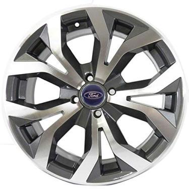 Jogo de Rodas Ford New Fiesta Aro 15 x 6,0 4x108 ET40 R35 Grafite Diamantado