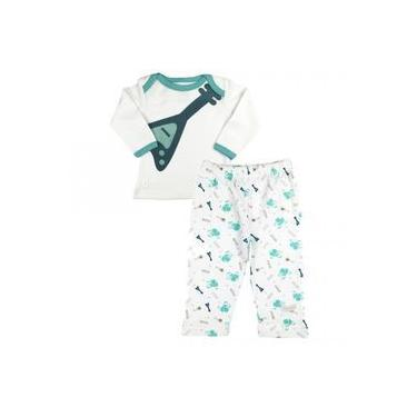 Pijama Bebê Menino Manga longa e Calça comprida Rock in Roll Zig Mundi
