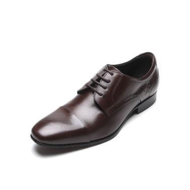 Sapato Social Couro Democrata Pespontos Marrom Democrata 228101-002 masculino