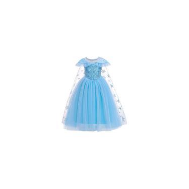 Imagem de Vestido Elsa Frozen Fantasia Princesa Infantil Cosplay #11