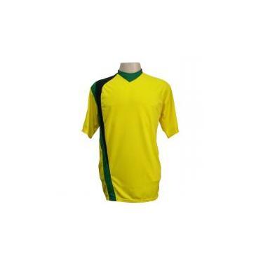 060e19b172 Jogo de Camisa com 14 unidades modelo PSG Amarelo Preto Verde + 1 Goleiro +  Brindes
