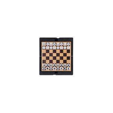 Conjunto De Xadrez Mini Magnético Dobrável E Carteira Portátil De Xadrez De Bolso Conjunto De Jogos De Tabuleiro