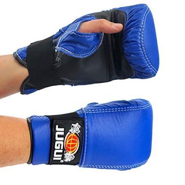 Luva Bate Saco Jugui Boxe/Muay Thay Div. Cores (Azul)