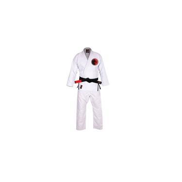 kimono jiu Jitsu trançado Blackdragon Branco A2