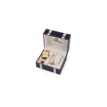 7486d960d70 Relógio Allora Feminino Ref  Al2035fmf k4x Dourado + Semijóia - Allora